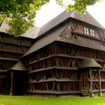 Здание деревянной кирхи в Гронсеке