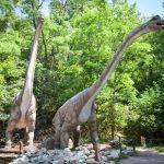 Макеты динозавров в братиславском Динопарке