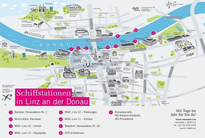 Туристическая карта Линца