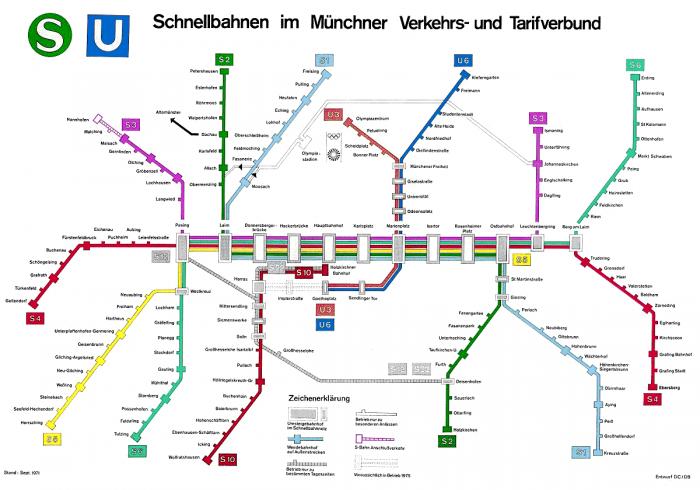 транспортная схема мюнхена